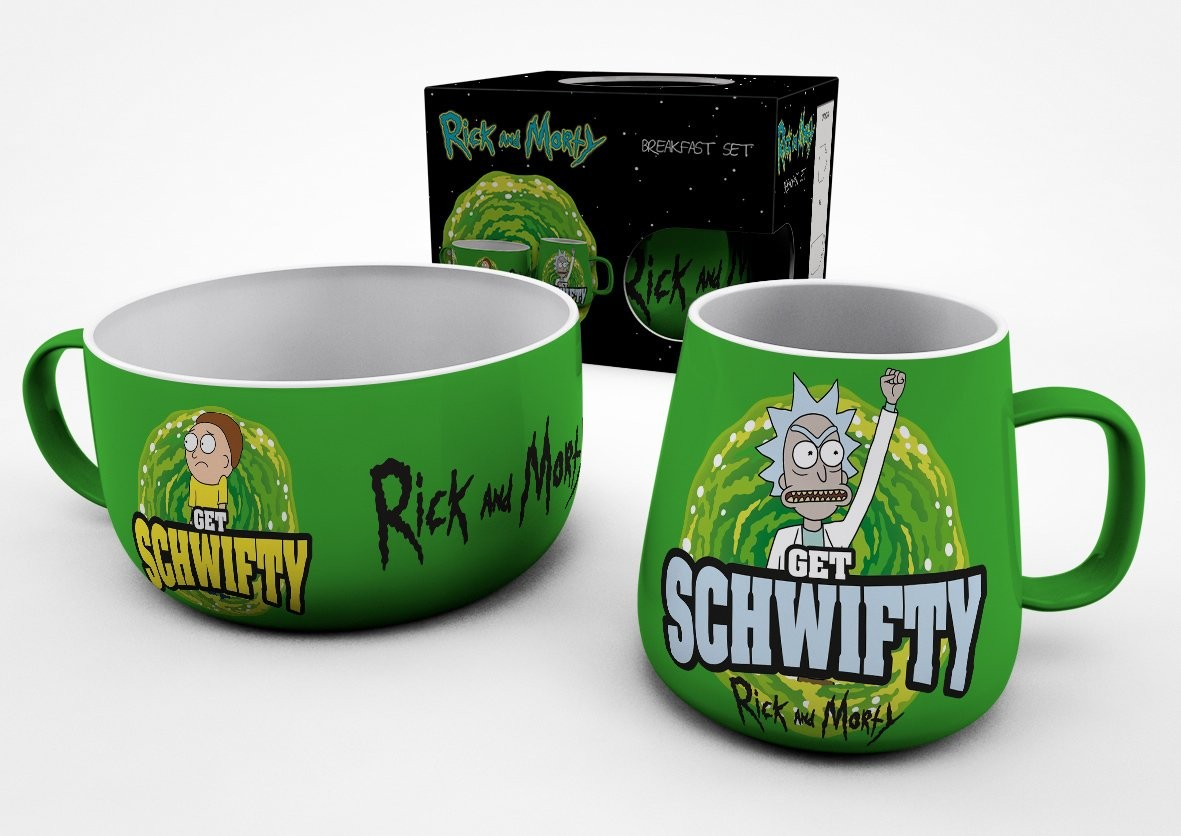 RICK AND MORTY Get Schwifty pusryčių puodelių rinkinys