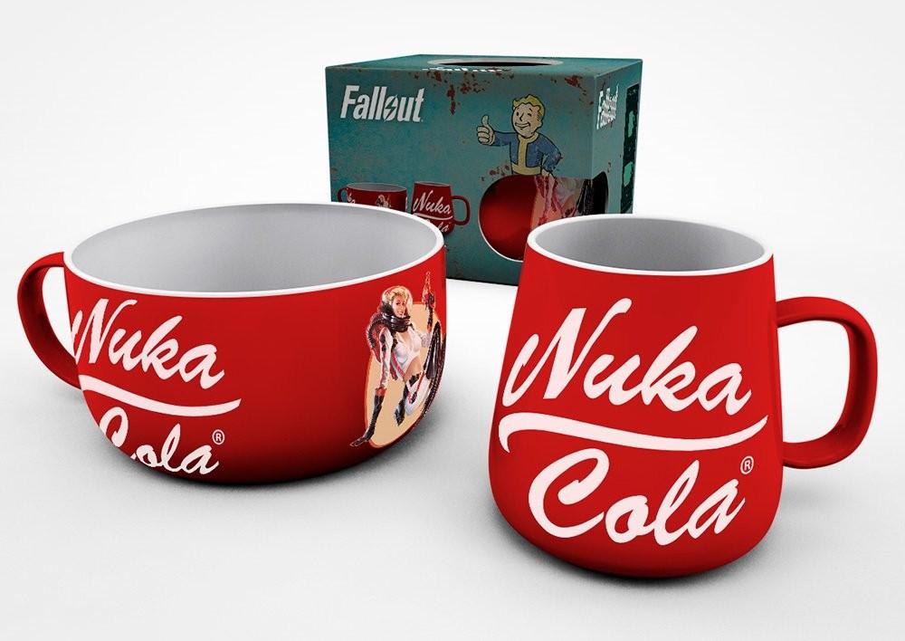 FALLOUT Nuka Cola pusryčių puodelių rinkinys