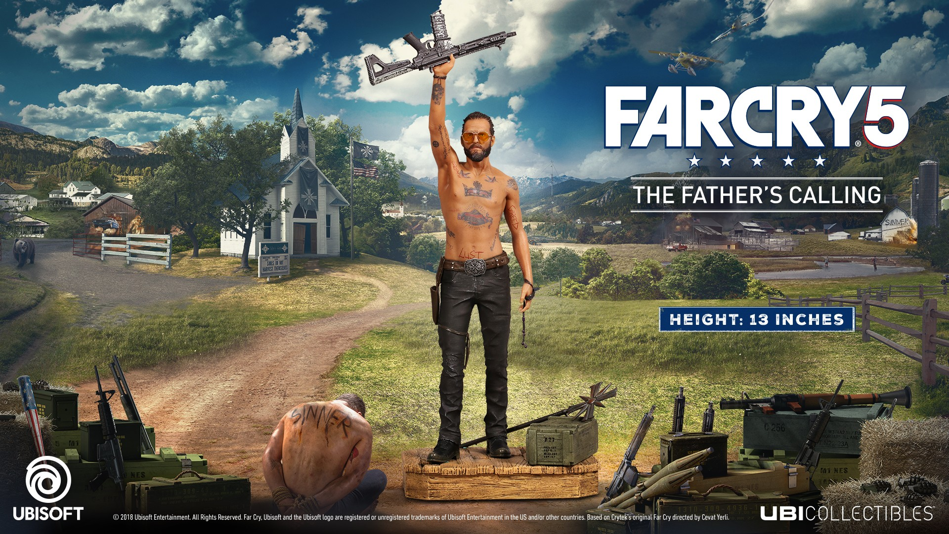 Far Cry 5 - Joseph Figurine : The Father's Calling | 33cm