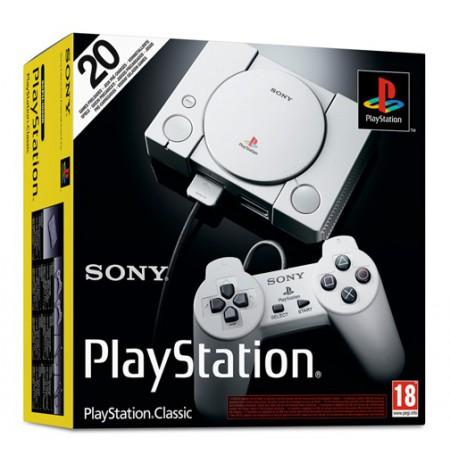 SONY Playstation Classic konsolė su 20 žaidimų   HDMI