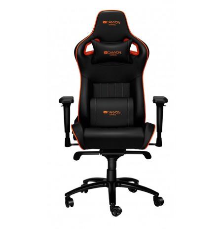 Canyon Corax juoda/oranžinė ergonominė kėdė