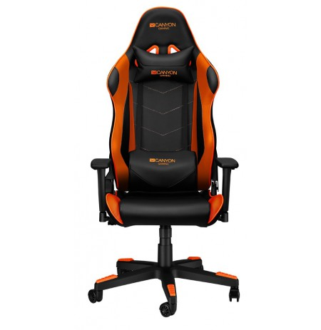 Canyon Deimos juoda/oranžinė žaidimų kėdė
