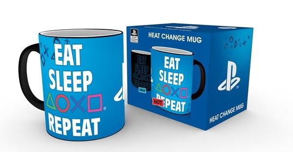 PLAYSTATION Eat Sleep Repeat heat change mug
