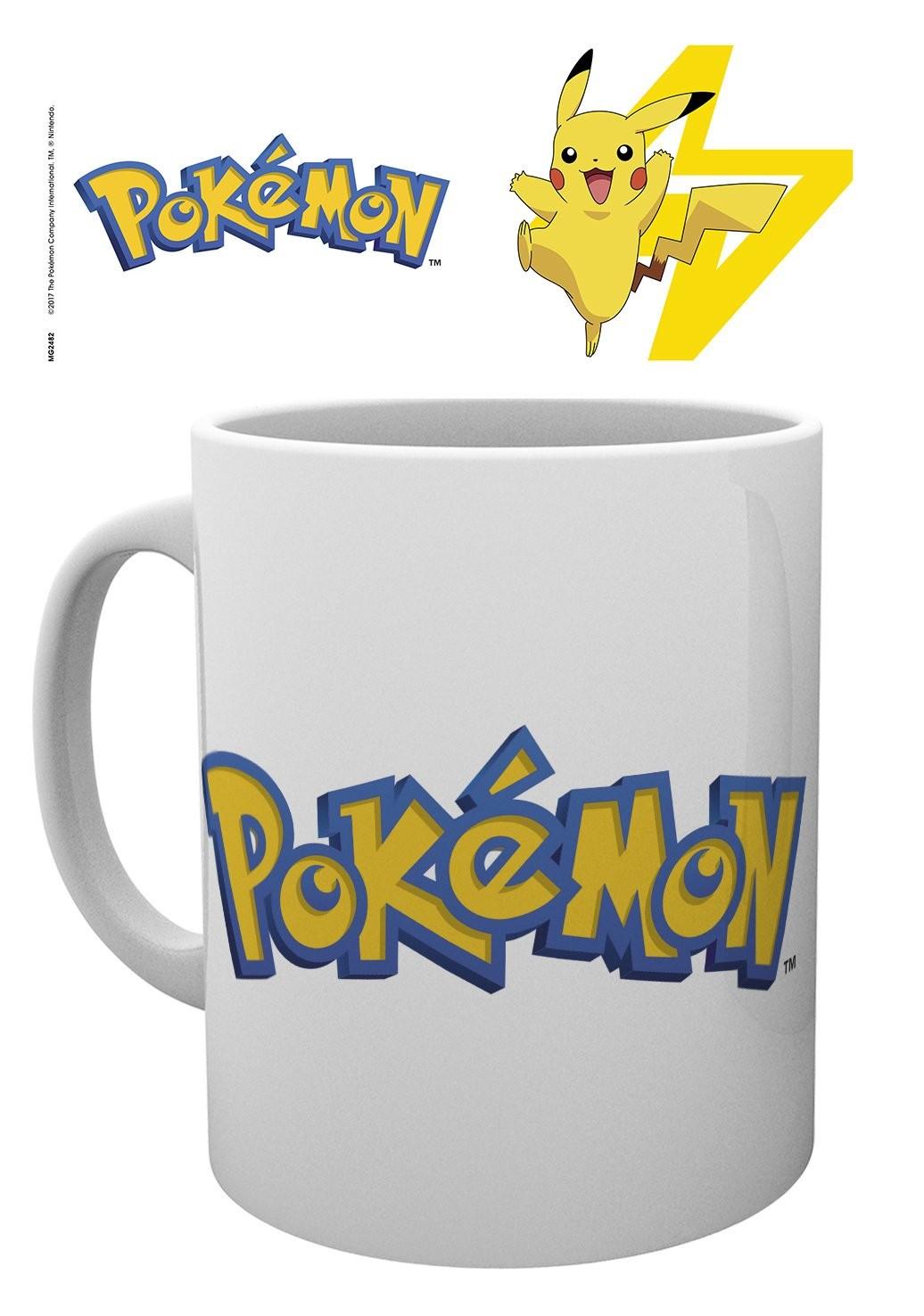 POKEMON Logo And Pikachu puodukas