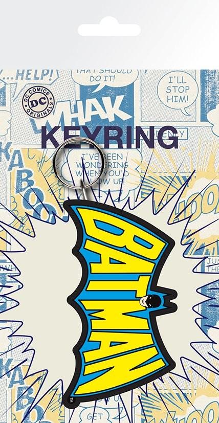 SUPERMAN  Logo rubber keyring