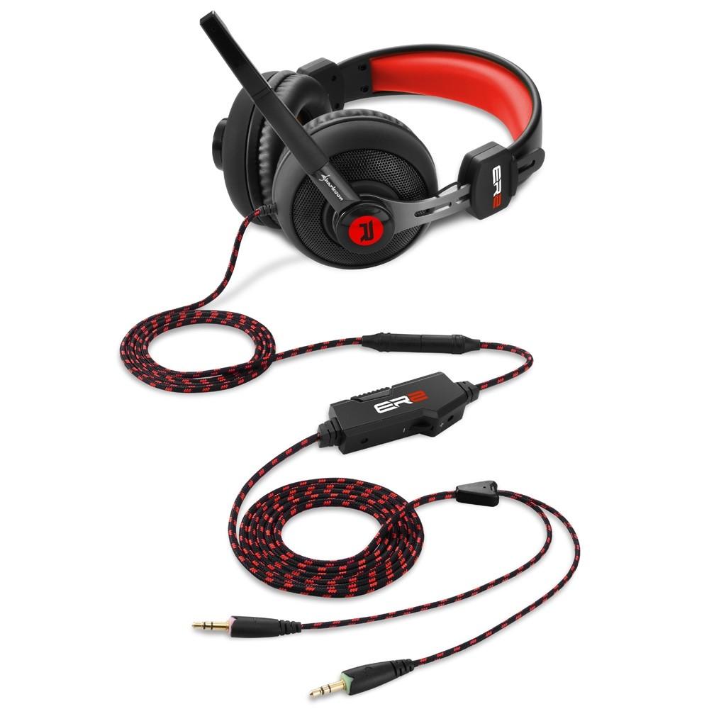 Sharkoon Rush ER2 raudonos laidinės ausinės | 3.5mm