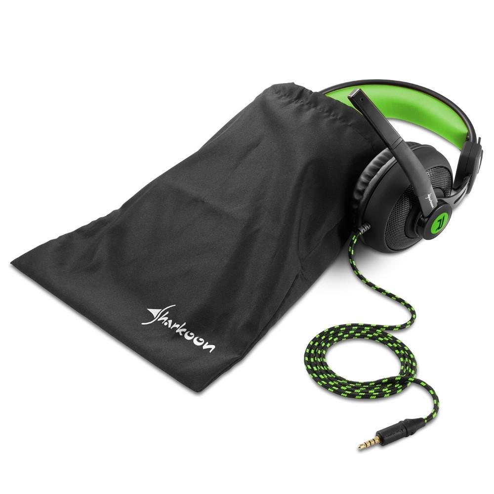 Sharkoon Rush ER2 žalios laidinės ausinės | 3.5mm