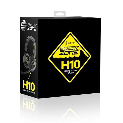 Sharkoon Zone H10 juodos laidinės ausinės | 2x3.5mm