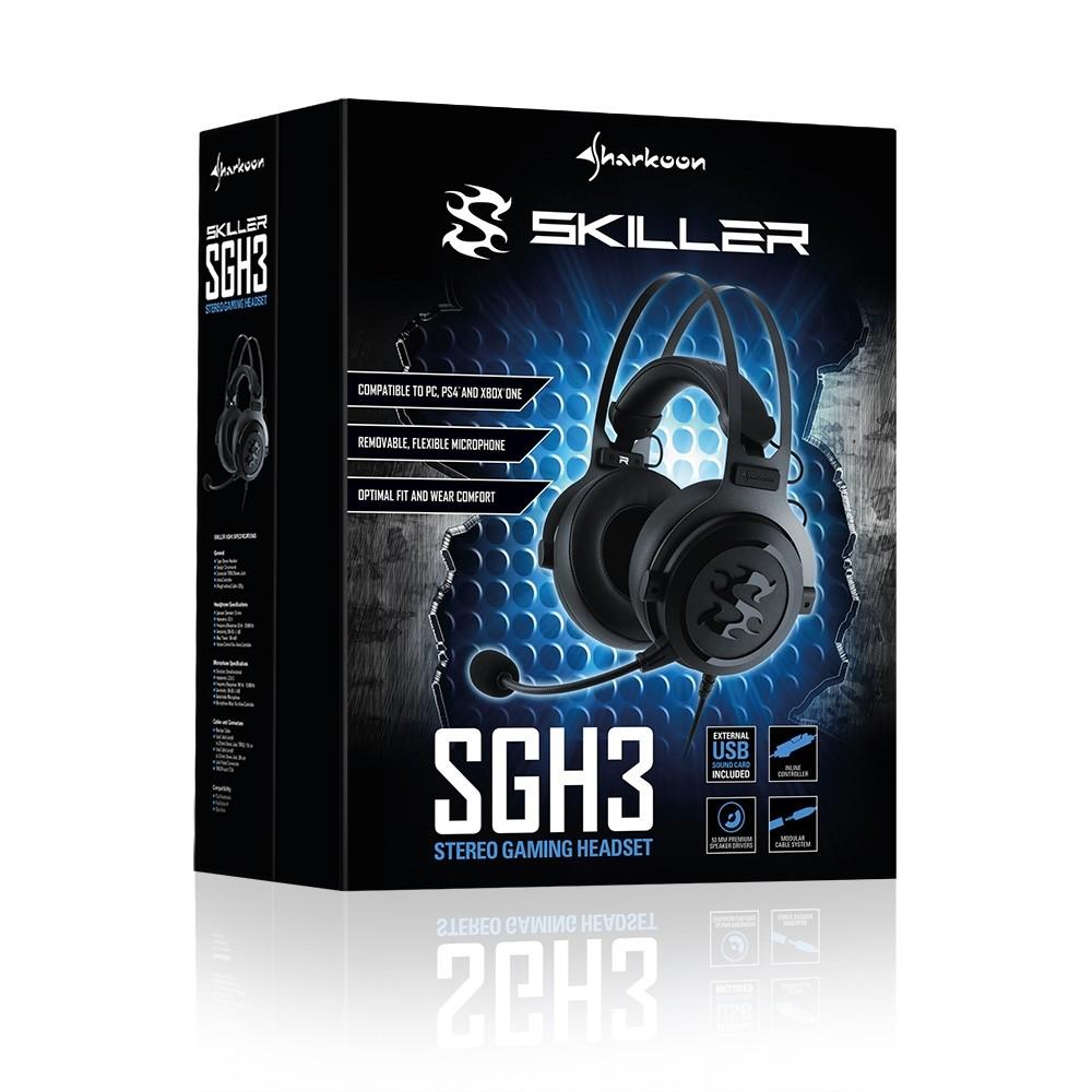 Sharkoon Skiller SGH3 laidinės ausinės | 3.5mm