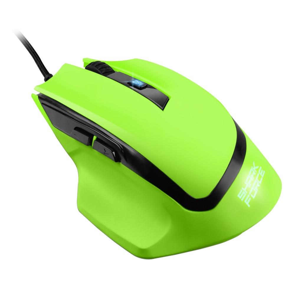 Sharkoon Force Gaming žalia laidinė pelė | 1600 DPI