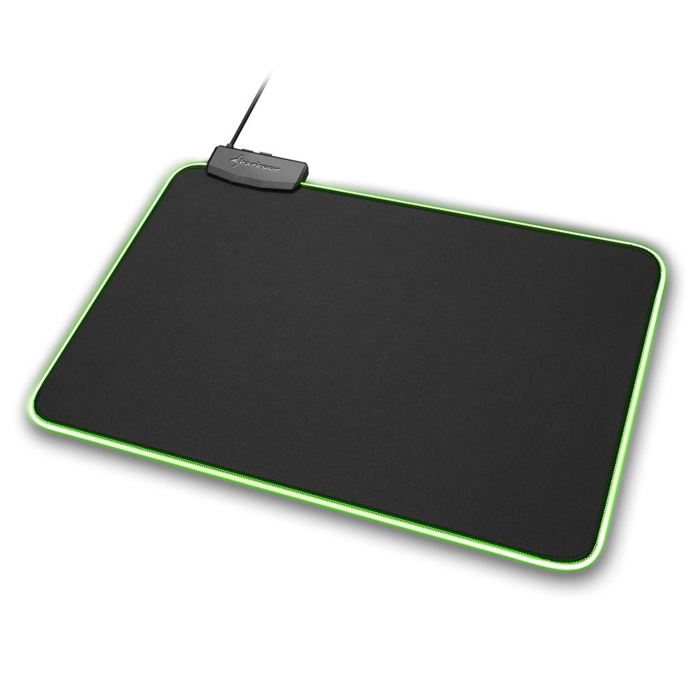 Sharkoon 1337 RGB 359x279x3mm šviečiantis minkštas pelės kilimėlis