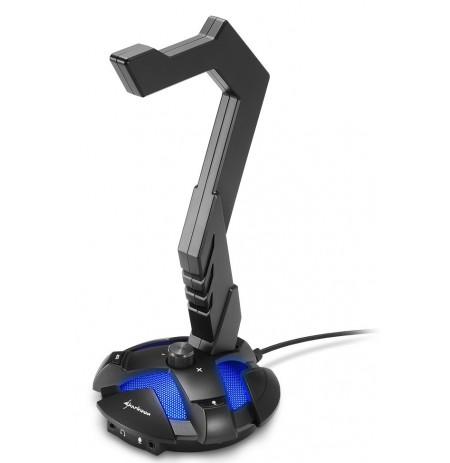 Sharkoon X-Rest 7.1 ausinių stovas su USB šakotuvu