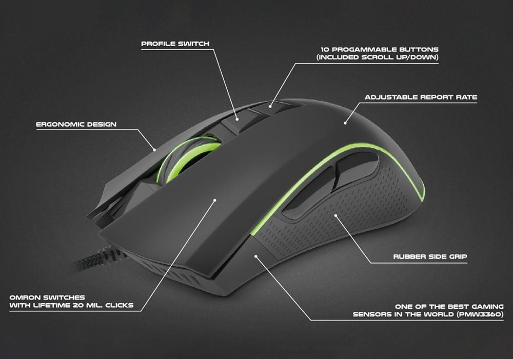 GENESIS KRYPTON 770 laidinė optinė pelė | 12000 DPI
