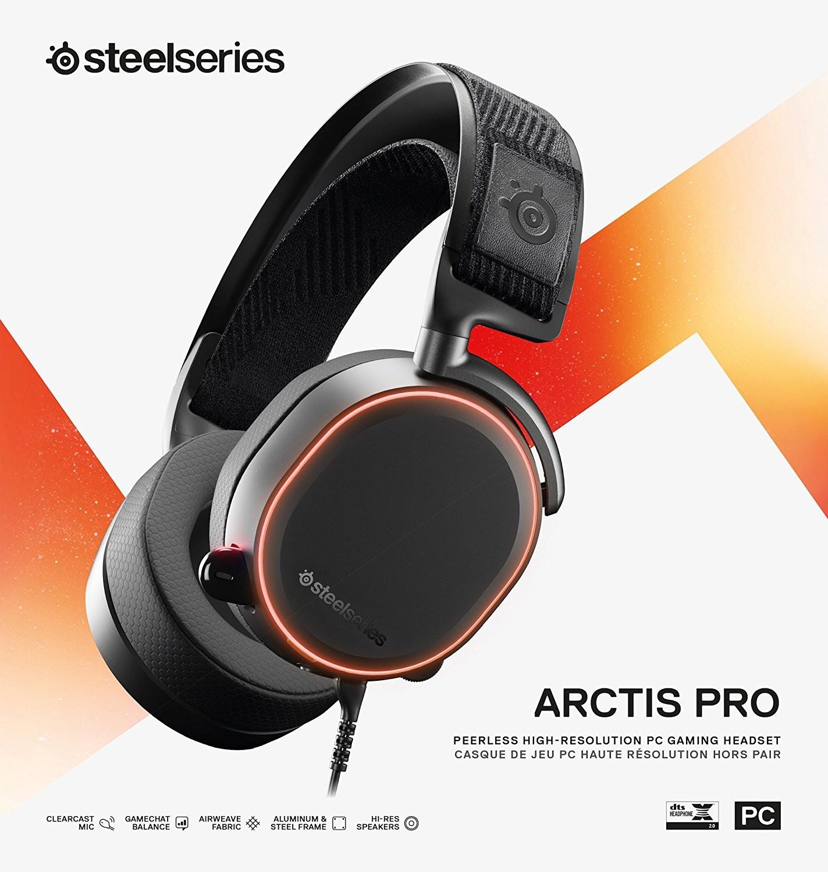 Steelseries Arctis Pro laidinės žaidimų ausinės | 3,5mm / USB
