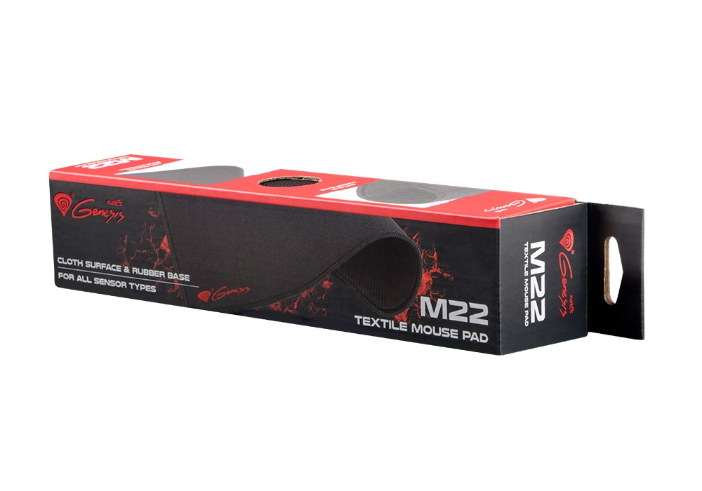 GENESIS M22 CONTROL pelės kilimėlis 254x300x2.5mm