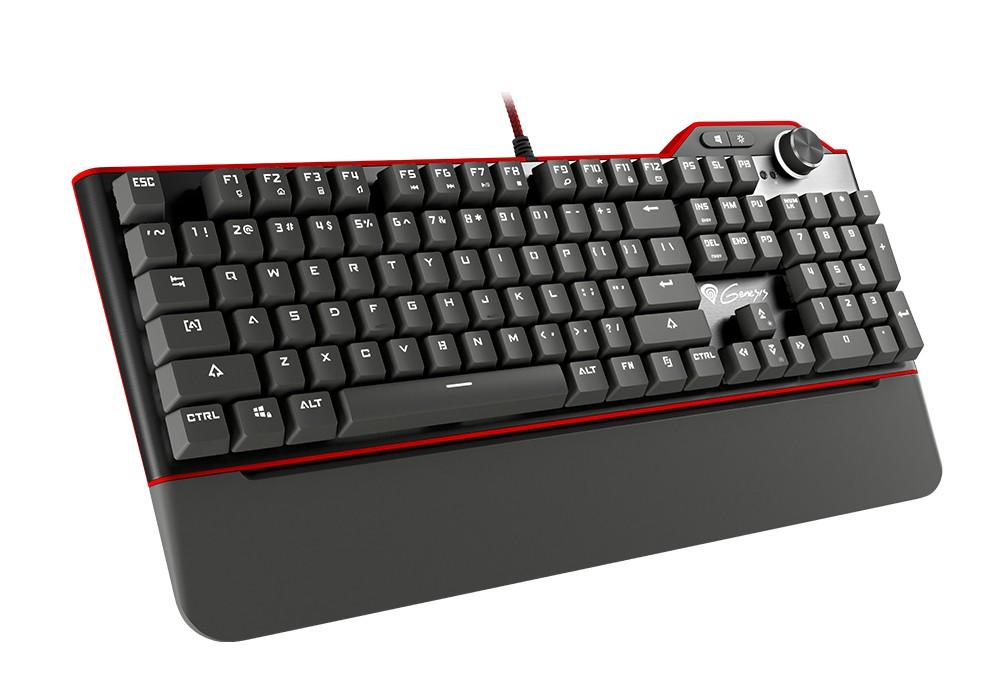 GENESIS RX85 mechaninė klaviatūra baltu apšvietimu (US) (BROWN)