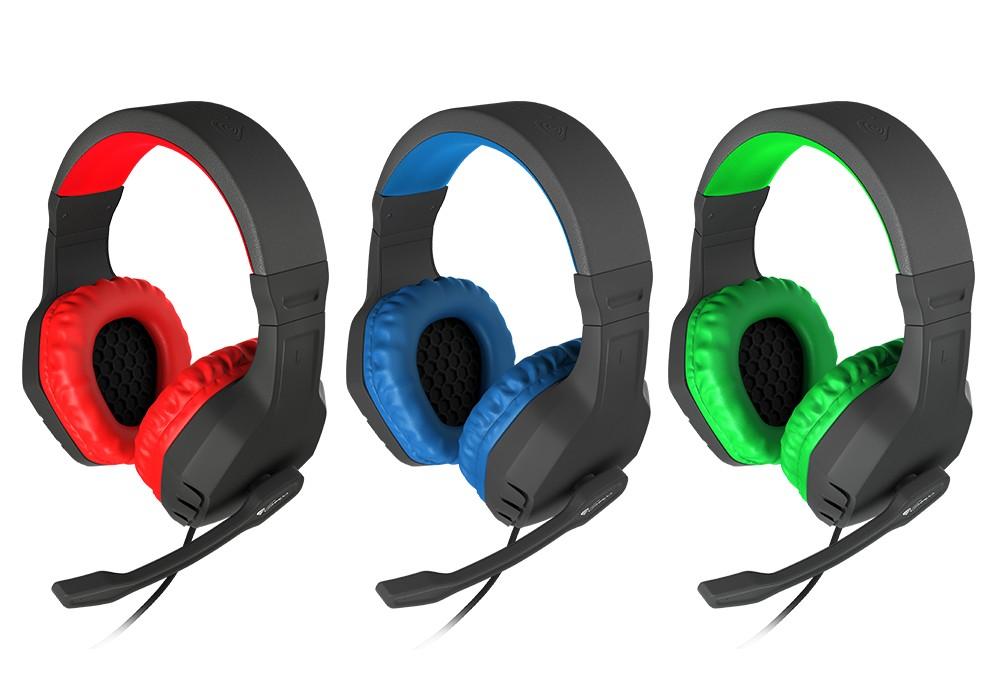 GENESIS ARGON 200 RED laidinės ausinės su mikrofonu | 2x 3.5mm