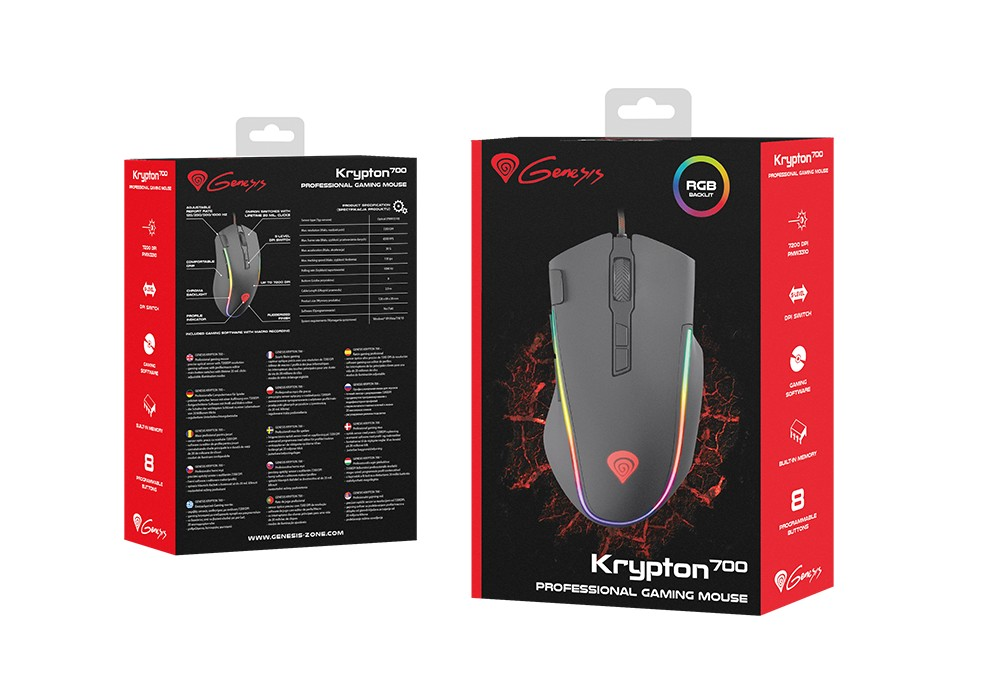 GENESIS KRYPTON 700 GAMING MOUSE 7200 DPI