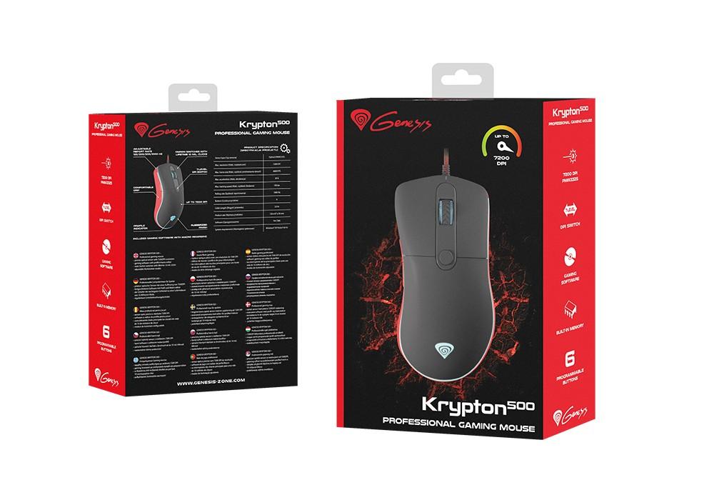 GENESIS KRYPTON 500 laidinė pelė | 7200 DPI
