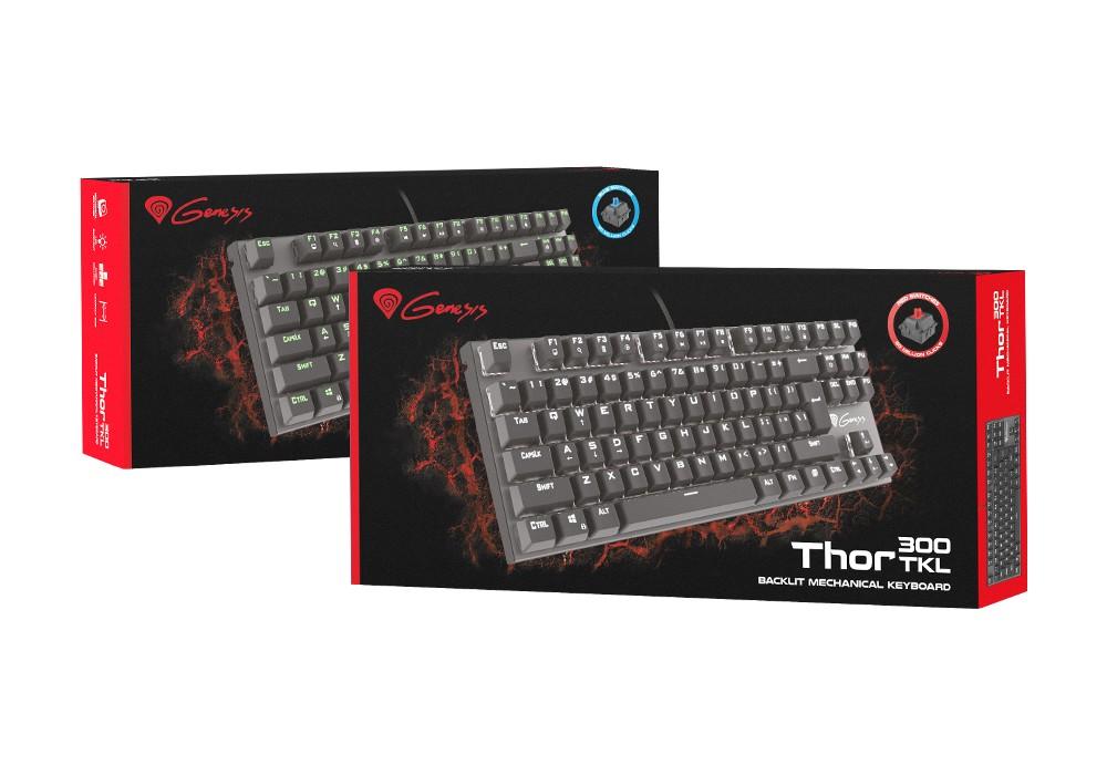 GENESIS THOR 300 TKL mechaninė klaviatūra US (Blue)