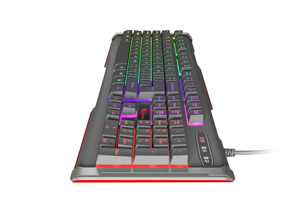 GENESIS RHOD 400 RGB membraninė klaviatūra US