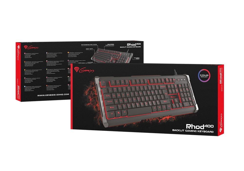 GENESIS RHOD 400 membraninė klaviatūra