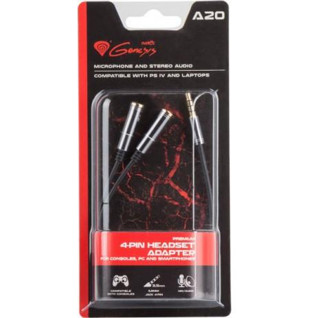 GENESIS A20 4-pin 3.5mm adapteris