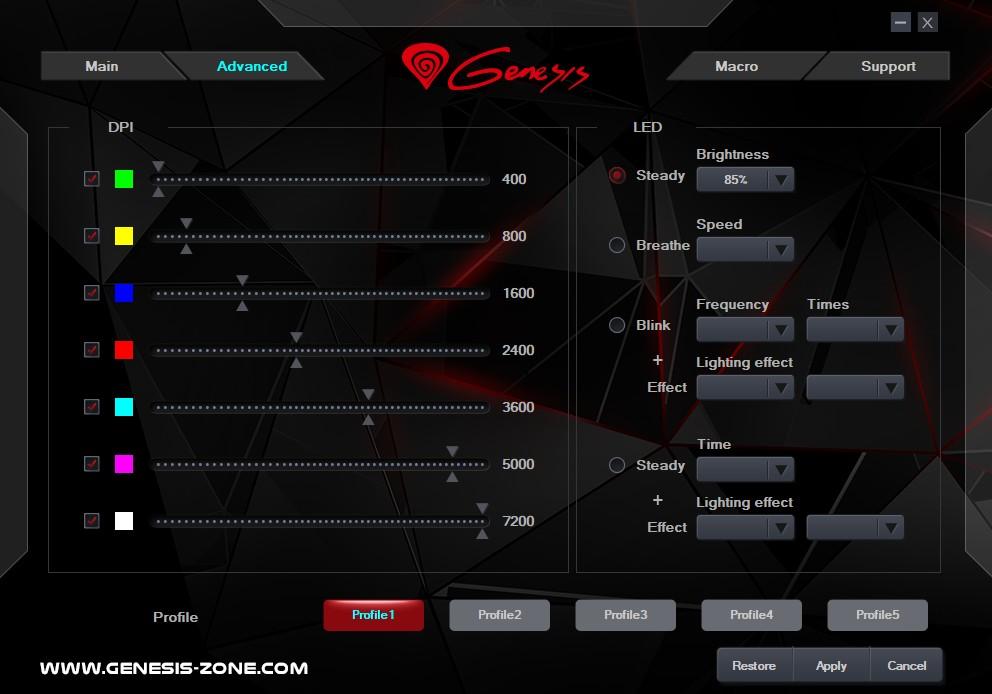 GENESIS KRYPTON 800 laidinė optinė pelė | 10200 DPI