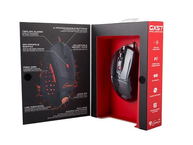 GENESIS GX57 laidinė optinė pelė | 4000 DPI