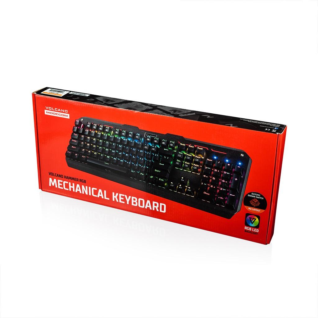 MODECOM VOLCANO HAMMER RGB žaidimų klaviatūra RED US