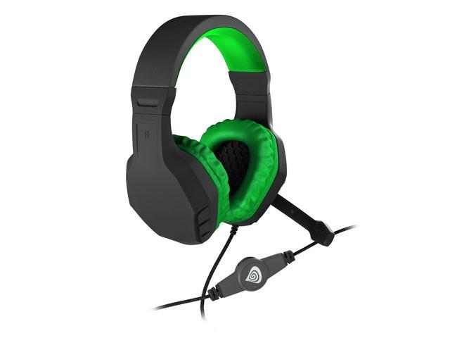 GENESIS ARGON 200 GREEN laidinės ausinės su mikrofonu | 2x 3.5mm