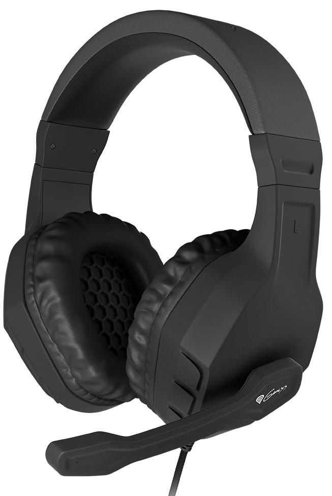 GENESIS ARGON 200 BLACK laidinės ausinės su mikrofonu | 2x