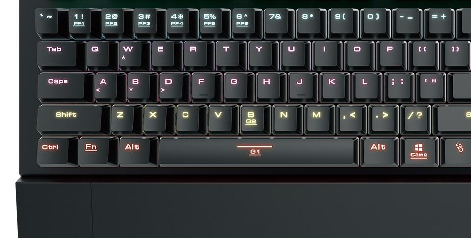 Gamdias HERMES M2 7 Color opto-mechanical keyboard US