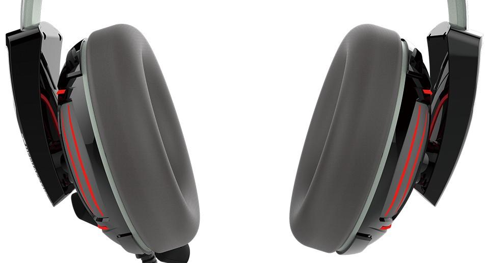 HEPHAESTUS P1 RGb 7.1 Grey/Black laidinės ausinės | USB
