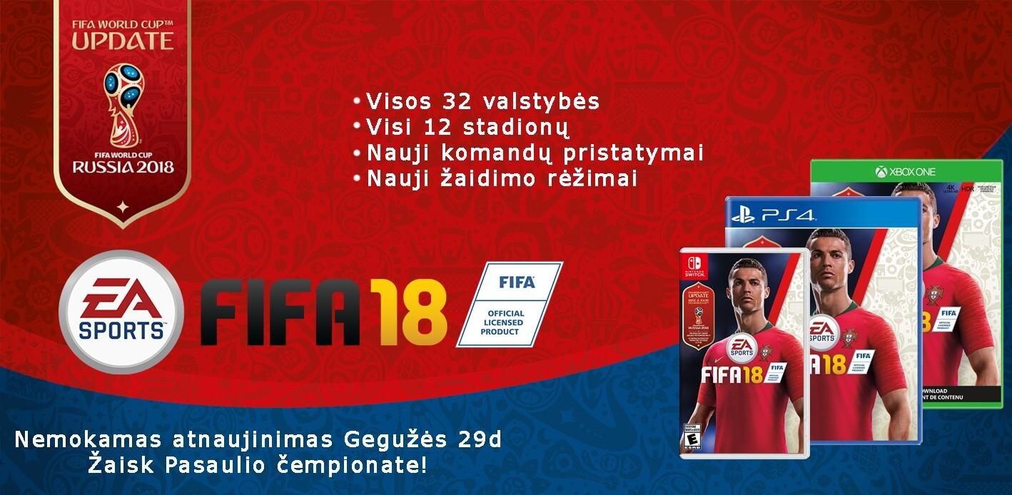 FIFA 18 World Cup atnaujinimas