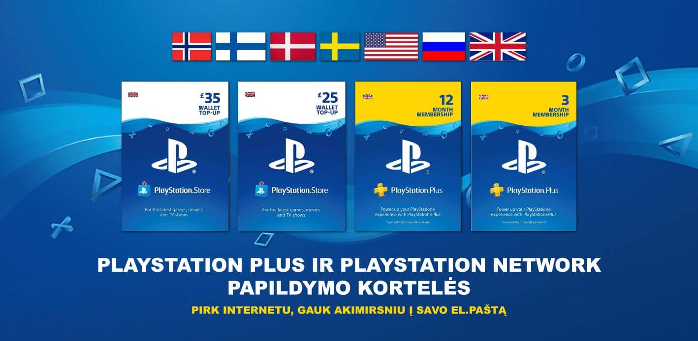 PlayStation Plus + PlayStation Network Cards