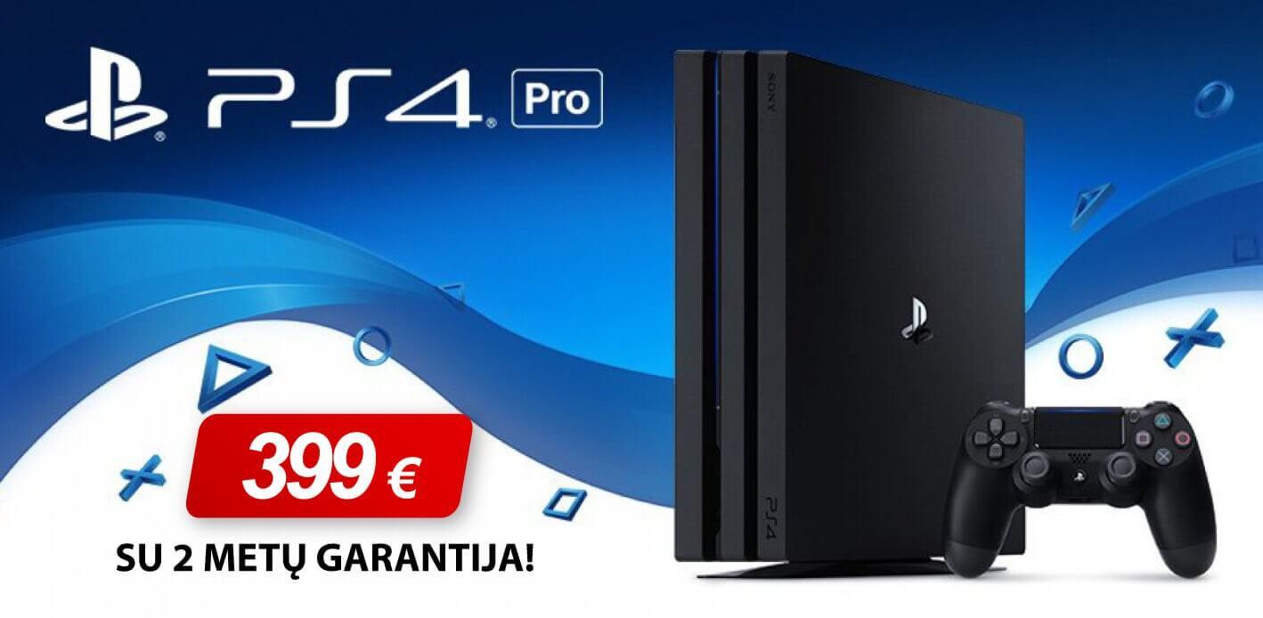 Žaidimų konsolė SONY PlayStation 4 (PS4) Pro 1TB